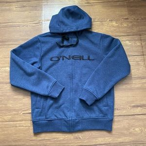 O'Neill Hooded Full Zip up Sweater Size Small